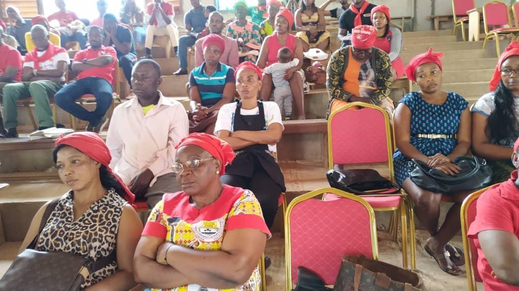 Séance de travail entre l'Aumonier général et ses collaborateurs au sein de la délégation de Yaoundé