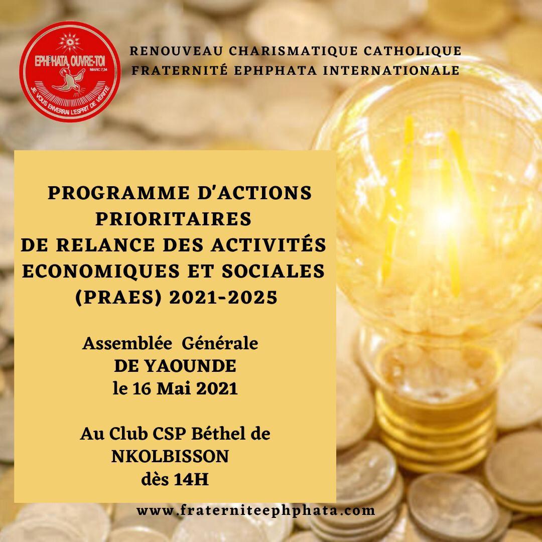 Programmes d'actions prioritaires Yaoundé